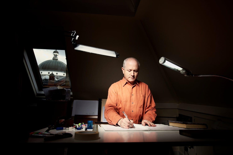 George-Benjamin-at-writing-desk-credit-Matthew-Lloyd-edited